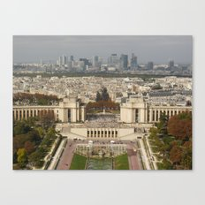 Aerial Paris Canvas Print