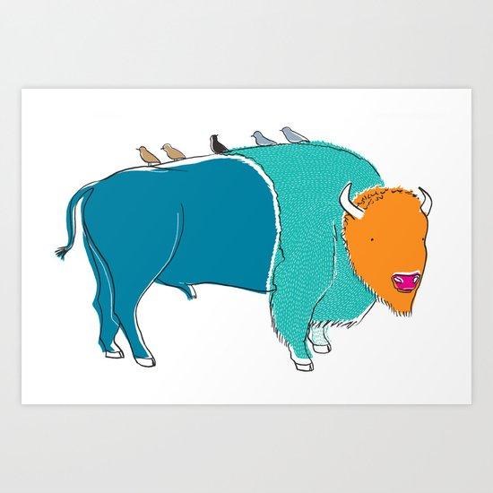 Bristol Bison Art Print