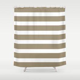Brown Kraft Strips on White Background Shower Curtain