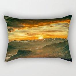 Mountains Ablaze Rectangular Pillow