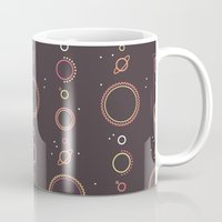 planets Mugs featuring Planets by Mario Graciotti