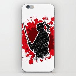 Samurai red iPhone Skin