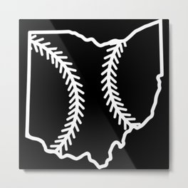 Ohio Baseball USA State Pride Metal Print