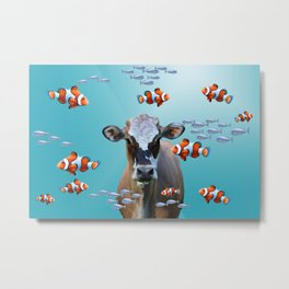 Costa Rica Cow - Clownfishes Collage underwater Metal Print