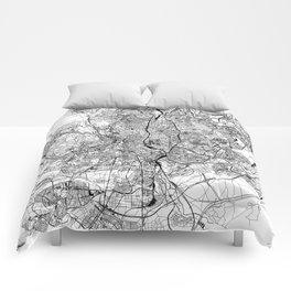 Madrid White Map Comforters