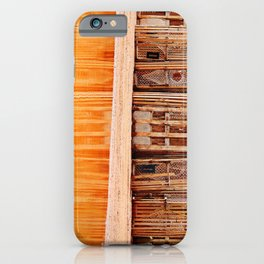 Lobster Traps and Red Sand iPhone Case