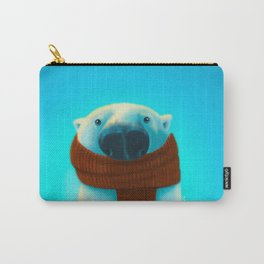 Polar bear with scarf Carry-All Pouch