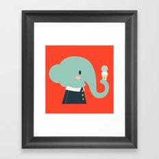 Mister Elephant Framed Art Print