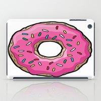 doughnut iPad Cases featuring doughnut queen by yogirlkass