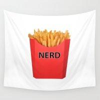 nerd Wall Tapestries featuring Fry Nerd by Noah Zark