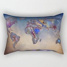 Stars world map. Blue. World map Rectangular Pillow