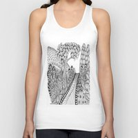 zentangle Tank Tops featuring Zentangle Illustration - Road Trip by Vermont Greetings