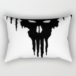 Dissolved Black Skull Rectangular Pillow