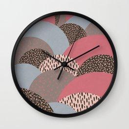 Abstract Autumn Hills Pattern Wall Clock