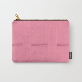 pink wine for dinner Carry-All Pouch