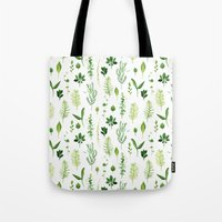 leaves Tote Bags featuring Leaves by Vicky Webb