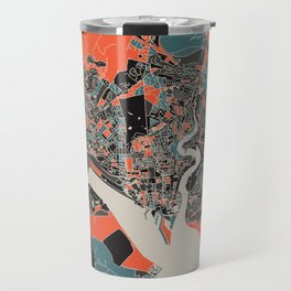 Southampton Multicoloured Print Travel Mug