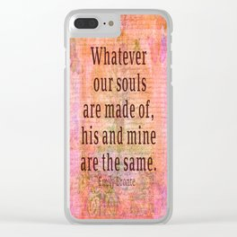 Love romantic couple quote Emily Bronte Clear iPhone Case