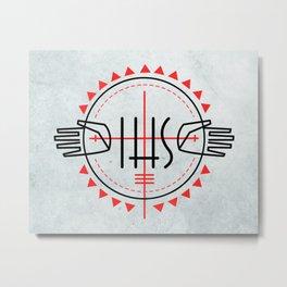 IHS religious Jesuit symbol Metal Print