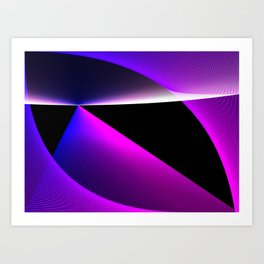 Gradation of Lines Art Print