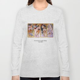 "Alfons Mucha, "" Four Seasons (1895)"" Long Sleeve T-shirt"