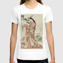 Sotoori Hime by Eishi Hosoda (1756-1829) a traditional Japanese Ukyio-e style  of a traditional Japa T-shirt