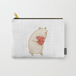 Bear with Heart Carry-All Pouch