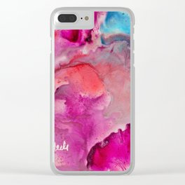 Abstract in Pink Clear iPhone Case