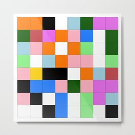 "Math Art Digital Print - ""ColoRs foR a laRge wall"" Metal Print"