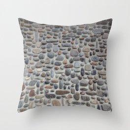 Mosaic Stone Wall Throw Pillow