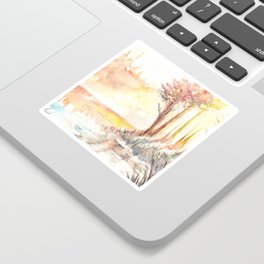 Watercolor Landscape 03 Sticker