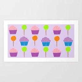 Sweets in purple Art Print