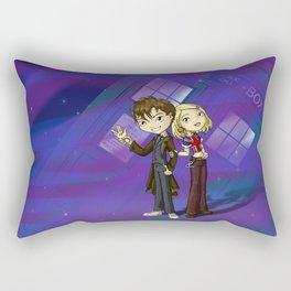 Doctor and Rose Rectangular Pillow
