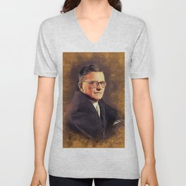 Dmitri Shostakovich, Music Legend Unisex V-Neck