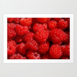 Wild berries of forest raspberries Art Print
