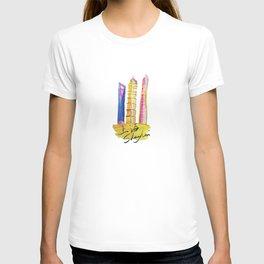 Fan' city landmarks illustration: sweet hometown-Shanghai T-shirt
