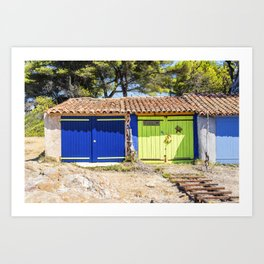 Seacoast of Cap Benat near Le Lavandou and Bormes-les-Mimosas in French Riviera Art Print