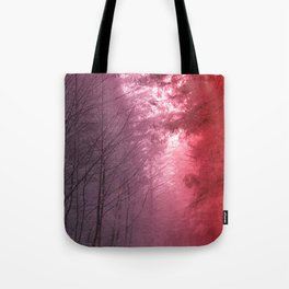 Rose Snowstorm Tote Bag