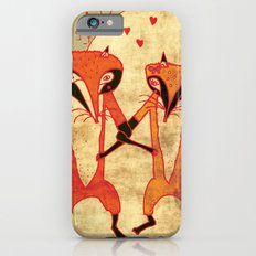 Foxes in love iPhone 6s Slim Case