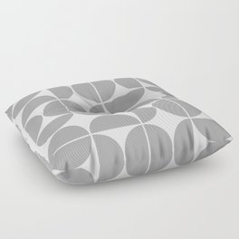 Mid Century Modern Geometric 04 Grey Floor Pillow