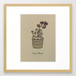 Time to Blossom Framed Art Print