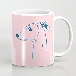 Italian Greyhound (Pink and Blue) Coffee Mug