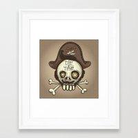 pirate Framed Art Prints featuring pirate by adi katz