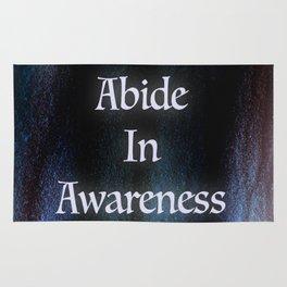 Abide In Awareness Inspiration Rug
