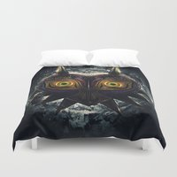majora Duvet Covers featuring Epic Pure Evil of Majora's Mask by Barrett Biggers