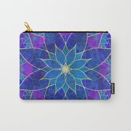 Lotus 2 - blue and purple Carry-All Pouch