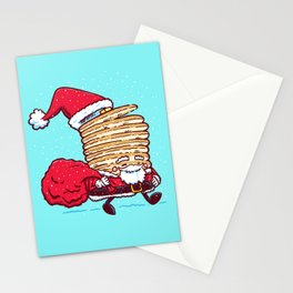 Santa Pancake Stationery Cards