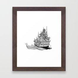 Snail Temple Framed Art Print