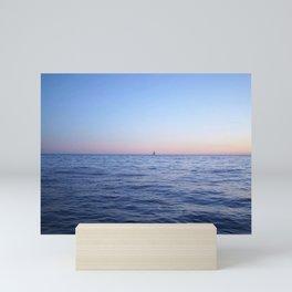 Lone Sailboat on the Sea Mini Art Print