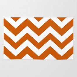 Burnt orange - orange color - Zigzag Chevron Pattern Rug
